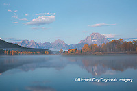 67545-09304 Sunrise at Oxbow Bend in fall; Grand Teton National Park; WY