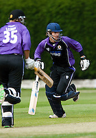 25 JUN 2009 - LOUGHBOROUGH,GBR - Paul Borrington (Loughborough UCCE) adds runs with team mate Liam Lewis during the match against Derbyshire - UCCE Twenty 20 (PHOTO (C) NIGEL FARROW)
