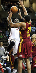 SIOUX FALLS, SD - FEBRUARY 11:  Henry Walker #21 from the Sioux Falls Skyforce shoots over Kevin Jones #21 from the Canton Charge in the first quarter of their game Tuesday night at the Sanford Pentagon. (Photo by Dave Eggen/Inertia)