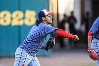 Garcia pitcher relevo de Mayos ,previo partido3 de beisbol entre Naranjeros de Hermosillo vs Mayos de Navojoa. Temporada 2016 2017 de la Liga Mexicana del Pacifico.<br /> © Foto: LuisGutierrez/NORTEPHOTO.COM