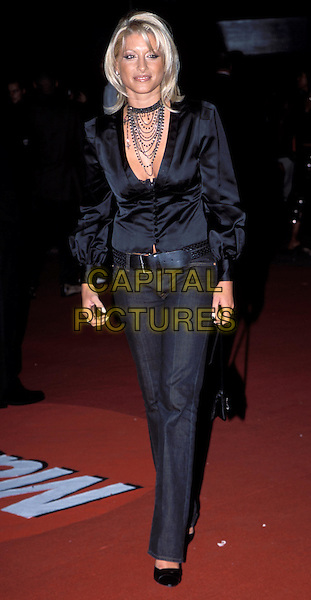 DANI BEHR.indian style pendant, jewellery, denim jeans, satin shirt.Arrivals for The MOBO Awards at London Arena..Ref: 11820.sales@capitalpictures.com.www.capitalpictures.com.©Capital Pictures