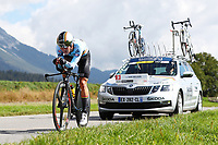 Picture by Alex Whitehead/SWpix.com - 24/09/2018 - Cycling 2018 Road Cycling World Championships Innsbruck-Tiriol, Austria - Junior Men's Individual Time Trial - Ilan van Wilder of Belgium.