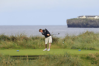 Gary Collins (Rosslare) on the 4th tee during Matchplay Round 1 of the South of Ireland Amateur Open Championship at LaHinch Golf Club on Friday 22nd July 2016.<br /> Picture:  Golffile | Thos Caffrey<br /> <br /> All photos usage must carry mandatory copyright credit   (© Golffile | Thos Caffrey)