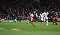 Manchester City's Sergio Aguero misses a first half penalty<br /> <br /> Photographer Rob Newell/CameraSport<br /> <br /> UEFA Champions League Quarter-finals 1st Leg - Tottenham Hotspur v Manchester City - Tuesday 9th April 2019 - White Hart Lane - London<br />  <br /> World Copyright © 2018 CameraSport. All rights reserved. 43 Linden Ave. Countesthorpe. Leicester. England. LE8 5PG - Tel: +44 (0) 116 277 4147 - admin@camerasport.com - www.camerasport.com