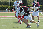 Orange, CA 05/01/10 - Alec Paul (LMU # 7) and Matt Walrath (Chapman # 50) in action during the LMU-Chapman MCLA SLC semi-final game in Wilson Field at Chapman University.  Chapman advanced to the final by defeating LMU 19-10.