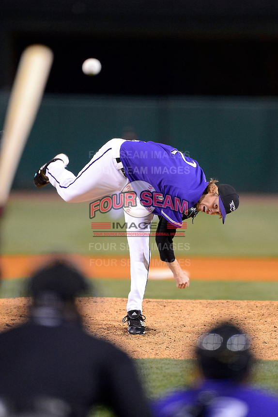 Louisville Bats pitcher Mike MacDougal #2 during a game against the Indianapolis Indians on April 19, 2013 at Louisville Slugger Field in Louisville, Kentucky.  Indianapolis defeated Louisville 4-1.  (Mike Janes/Four Seam Images)