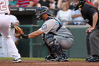 Syracuse Chiefs catcher Wilson Ramos during a game vs. the Buffalo Bisons at Coca-Cola Field in Buffalo, New York;  August 30, 2010.  Syracuse defeated Buffalo 4-1.  Photo By Mike Janes/Four Seam Images
