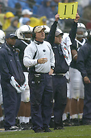 02 September 2006:  Penn State defensive coordinator Tom Bradley.  The Penn State Nittany Lions defeated the Akron Zips 34-16 September 2, 2006 at Beaver Stadium in State College, PA..