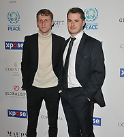 Jamie Borthwick and Max Bowden at the Football For Peace Initiative Dinner by Global Gift Foundation, Corinthia Hotel, Whitehall Place, London, England, UK, on Monday 08th April 2019.<br /> CAP/CAN<br /> ©CAN/Capital Pictures