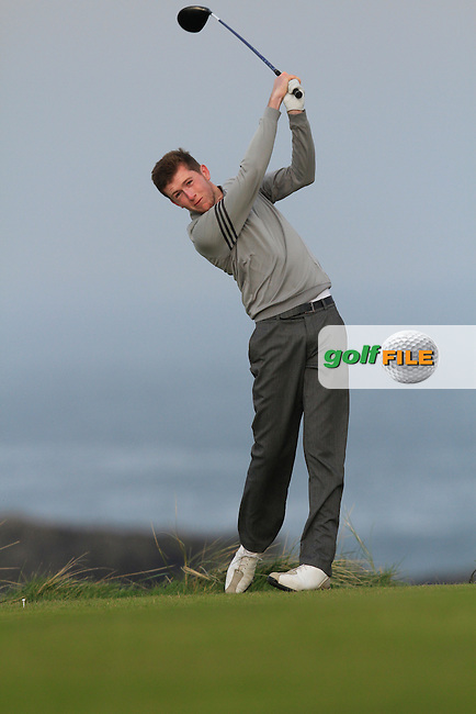 Neil McKinstry (Cairndhu) during Round 3 of the 54 hole Stroke Play on April 10th  2015 for the 2015 Munster Youths' Open Championship, Tralee Golf Club, Tralee, Co.Kerry Ireland.<br /> Picture: Thos Caffrey / Golffile
