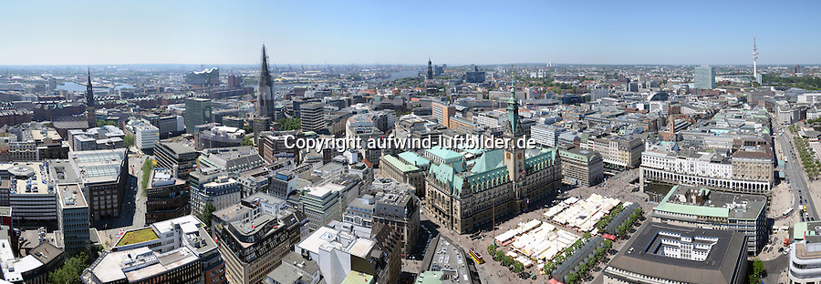 Hamburg Innenstadt  : EUROPA, DEUTSCHLAND, HAMBURG, (EUROPE, GERMANY), 04.07.2015: Hamburg Panorama