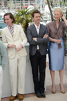 "Wes Anderson, Edward Norton and Tilda Swinton attending the ""Moonrise Kingdom"" Photocall during the 65th annual International Cannes Film Festival in Cannes, 16th May 2012...Credit: Timm/face to face /MediaPunch Inc. ***FOR USA ONLY***"