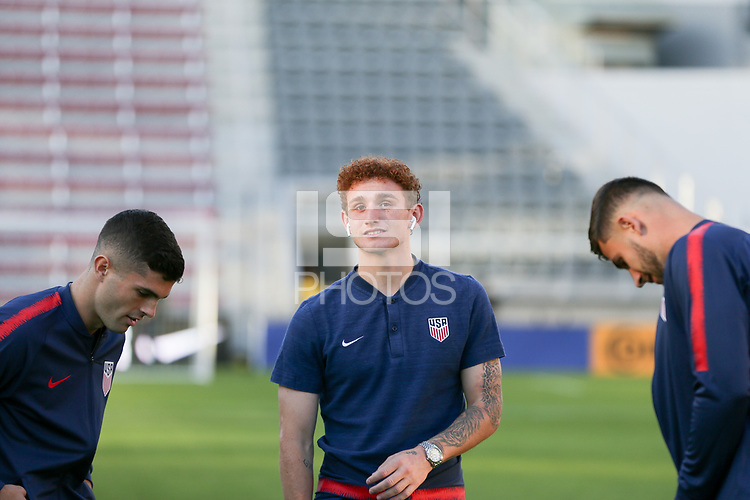 WASHINGTON D.C. - OCTOBER 11: Josh Sargent #19 of the United States during warm ups prior to their Nations League game versus Cuba at Audi Field, on October 11, 2019 in Washington D.C.