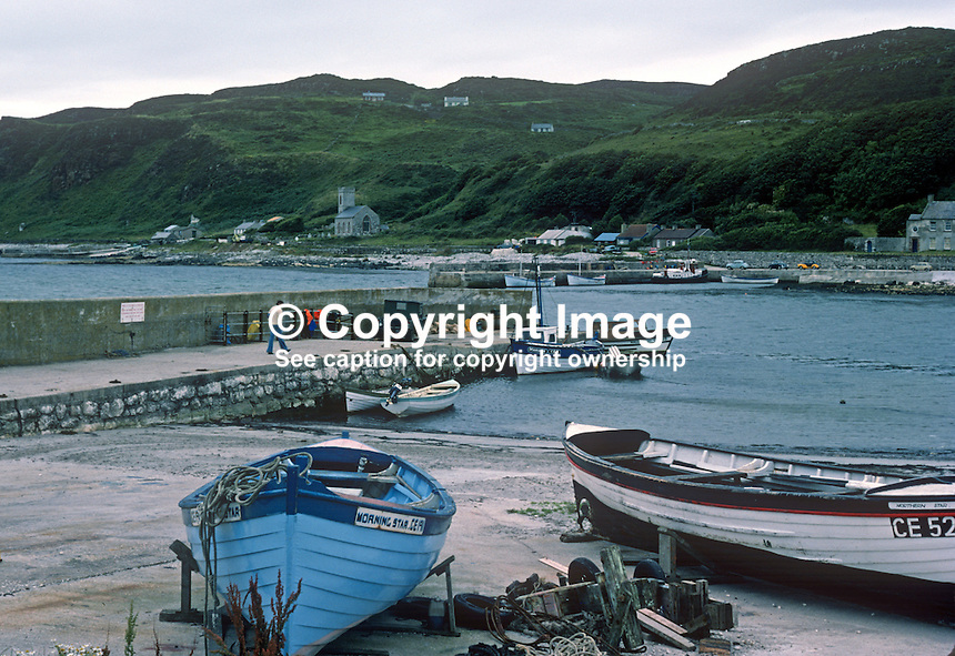 Rathlin Island, Co Antrim, N Ireland, UK, looking across Church Bay from the harbour. 197809000241c..Copyright Image from Victor Patterson, 54 Dorchester Park, Belfast, United Kingdom, UK...For my Terms and Conditions of Use go to http://www.victorpatterson.com/Victor_Patterson/Terms_%26_Conditions.html