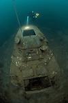 Technical Divers exploring Tidenham Quarry, Nationl Diving and Activity Centre, UK