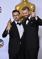 Sam Smith &amp; Jimmy Napes at the 88th Academy Awards at the Dolby Theatre, Hollywood.<br /> February 28, 2016  Los Angeles, CA<br /> Picture: Paul Smith / Featureflash
