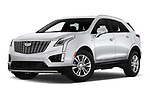 Stock pictures of low aggressive front three quarter view of 2020 Cadillac XT5 Premium-Luxury 5 Door SUV Low Aggressive