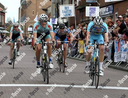 2008-04-27 / Wielrennen / Herman Vanspringels Diamond / De top-4 tijdens de spurt met rechts winnaar Dylan Van Baarle..Foto: Maarten Straetemans (SMB)