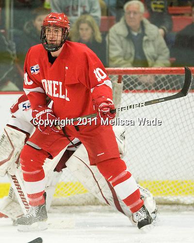Patrick Kennedy (Cornell - 10) - The visiting Cornell University Big Red defeated the Harvard University Crimson 2-1 on Saturday, January 29, 2011, at Bright Hockey Center in Cambridge, Massachusetts.