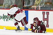 Nathan Krusko (Harvard - 13), Matthew Gaudreau (BC - 21) - The Harvard University Crimson defeated the visiting Boston College Eagles 5-2 on Friday, November 18, 2016, at Bright-Landry Hockey Center in Boston, Massachusetts.{headline] - The Harvard University Crimson defeated the visiting Boston College Eagles 5-2 on Friday, November 18, 2016, at Bright-Landry Hockey Center in Boston, Massachusetts.