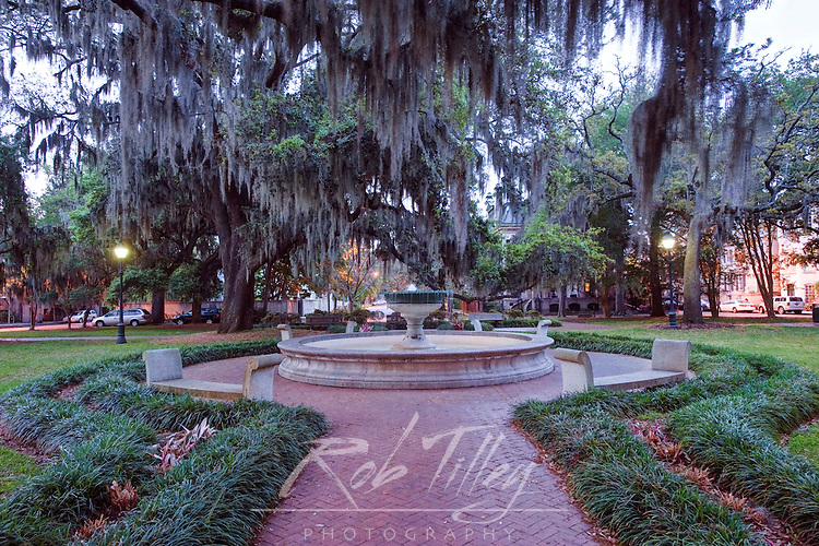 USA, GA, Savannah, Historic District, Orleans Square