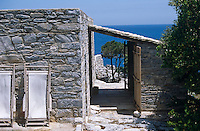 This simple stone property has views over the Aegean