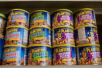 Various Planters products with both French and English labels are seen in a Metro grocery store in Quebec city March 4, 2009. Planters is  division of Kraft Foods