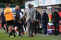 Southend Manager, Sol Campbell walks towards the dressing room at the final whistle after losing to Dover in the FA Cup during Dover Athletic vs Southend United, Emirates FA Cup Football at the Crabble Athletic Ground on 10th November 2019