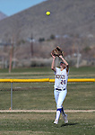 Wildcats' Makenzie Hospodka makes a play in centerfield during a college softball game against Snow College at Edmonds Sports Complex in Carson City, Nev., on Friday, March 6, 2014. <br /> Photo by Cathleen Allison/Nevada Photo Source