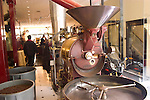 California: San Francisco, North Beach. Coffee roasting machinery at Caffe Roma.  Photo #: san-francisco-north-beach-18-casanf16867. Photo copyright Lee Foster.