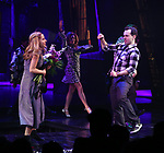 "Kerry Butler Rob McClure during the Broadway Opening Night Performance Curtain Call for ""Beetlejuice"" at The Winter Garden on April 25, 2019 in New York City."