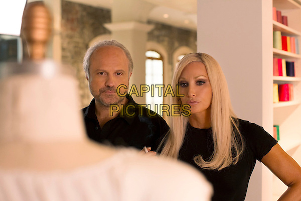 Enrico Colantoni, Gina Gershon<br /> in House of Versace: The Untold Story of Genius, Murder and Survival (2013)<br /> *Filmstill - Editorial Use Only*<br /> CAP/FB<br /> Image supplied by Capital Pictures