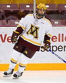 Evan Kaufmann (University of Minnesota - Tonka Bay, MN) warms up. The University of Minnesota Golden Gophers defeated the Michigan State University Spartans 5-4 on Friday, November 24, 2006 at Mariucci Arena in Minneapolis, Minnesota, as part of the College Hockey Showcase.