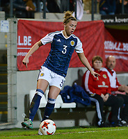 20170411 - LEUVEN ,  BELGIUM : Scottish Nicola Docherty pictured during the friendly female soccer game between the Belgian Red Flames and Scotland , a friendly game in the preparation for the European Championship in The Netherlands 2017  , Tuesday 11 th April 2017 at Stadion Den Dreef  in Leuven , Belgium. PHOTO SPORTPIX.BE | DAVID CATRY