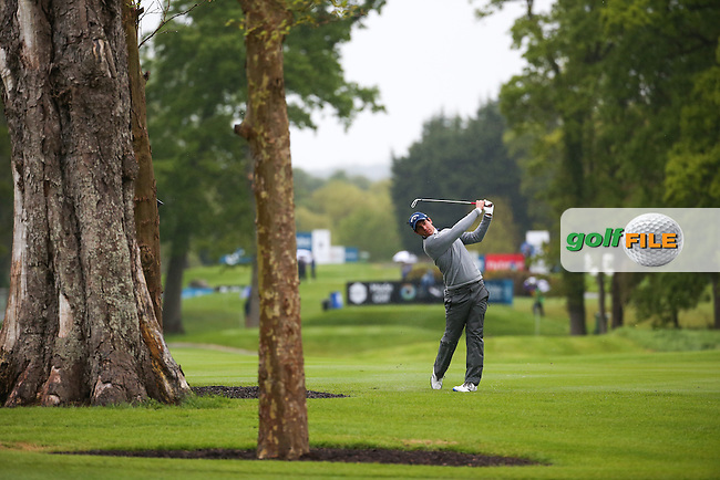 Matteo Manassero (ITA) plays up the 9th during Round One of the 2016 Dubai Duty Free Irish Open Hosted by The Rory Foundation which is played at the K Club Golf Resort, Straffan, Co. Kildare, Ireland. 19/05/2016. Picture Golffile | David Lloyd.<br /> <br /> All photo usage must display a mandatory copyright credit as: &copy; Golffile | David Lloyd.