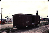 #3410 box car - Farmington.<br /> D&amp;RGW  Farmington, NM