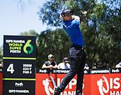 10th February 2018, Lake Karrinyup Country Club, Karrinyup, Australia; ISPS HANDA World Super 6 Perth golf, third round; Grant Forrest (SCT) drives