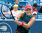 August 16,2018:   Angelique Kerber (GER) loses to Madison Keys (USA) 2-6, 7-6, 6-4, at the Western & Southern Open being played at Lindner Family Tennis Center in Mason, Ohio.  ©Leslie Billman/Tennisclix/CSM