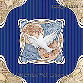 Isabella, CHRISTMAS SYMBOLS, corporate, paintings, pigeon, blue fond(ITKE501354,#XX#) Symbole, Weihnachten, Geschäft, símbolos, Navidad, corporativos, illustrations, pinturas