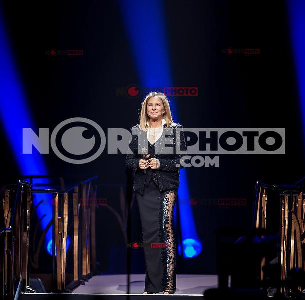 LAS VEGAS, NV - November 2: Barbra Streisand performs at MGM Grand Garden Arena on November 2, 2012 in Las Vegas, Nevada.   Photo By Kabik/ Starlitepics / MediaPunch Inc. .<br /> ©NortePhoto