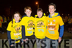 Megan Tearle, Jordan Tearle, Susan Tearle and Hugo Wells at the Darkness Into Light Tralee at CBS the Green on Saturday