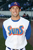 April 17, 2009:  Left fielder Bryan Petersen of the Jacksonville Suns, Southern League Class-AA affiliate of the Florida Marlins, during a game at the Baseball Grounds of Jacksonville in Jacksonville, FL.  Photo by:  Mike Janes/Four Seam Images