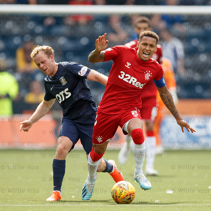 04.08.2019 Kilmarnock v Rangers: Rory McKenzie and James Tavernier