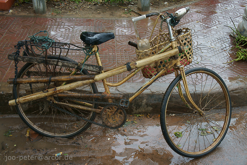 bamboo bicycle, Siem Reap, Cambodia, August 2011