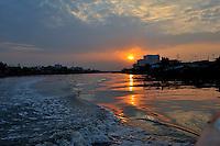 Sunrise over the Saigon River, outskirts of Ho Chi Minh City (Saigon), Vietnam