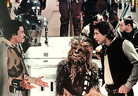 Star Wars: Episode VI - Return of the Jedi (1983) <br /> Billy Dee Williams, Harrison Ford &amp; Peter Mayhew<br /> *Filmstill - Editorial Use Only*<br /> CAP/KFS<br /> Image supplied by Capital Pictures