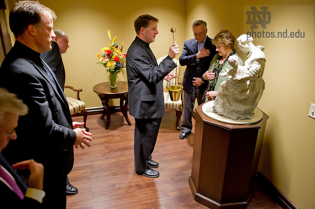 Sept. 27, 2013; Dedication of the statue of St. Anthony outside the Christ the Teacher chapel in Carole Sandnder Hall.<br /> <br /> Photo by Matt Cashore/University of Notre Dame