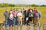 HERITAGE: Members of the Castlemaine Heritage Group on the disputed old Sportsfield in Castlemaine on Saturday l-r: Brendan O'Reilly, Maureen Ni Cinneide, Lactin Spring, David Grey, Michael O'Dowd, Ann Day, Willie Spring, Dan Griffin Chairperson, Arthur Lenihan, Bre?anainn Beaglaoi?, Bridgid O'Connor, Kieran Flynn and Pat Hanafin.