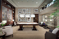 Recreational Room With Billiard Table
