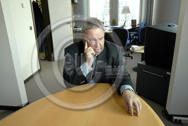 BRUSSELS - BELGIUM - 02 MARCH 2004-- MEP Ilkka SUOMINEN (Finland PPE-DE) during an interview in office. -- PHOTO: JUHA ROININEN / EUP-IMAGES